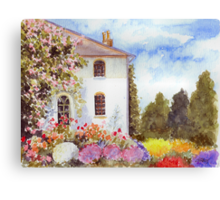 THE HOUSE WITH THE ROSES Canvas Print