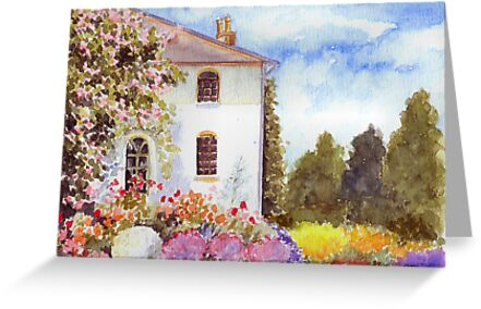 THE HOUSE WITH THE ROSES by RainbowArt