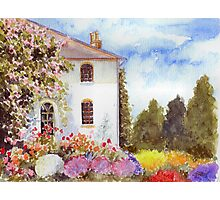 THE HOUSE WITH THE ROSES Photographic Print