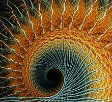 Spiral Rays ~ Apophysis Fractal.. by Beatriz  Cruz
