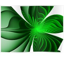 Green Bloom ~ Apophysis Fractal Poster