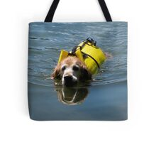Winnie Swimming - O'Haver Lake, Colorado Tote Bag