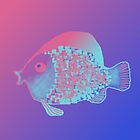 Neon Fish in an apricot and blue sea by TedReeder
