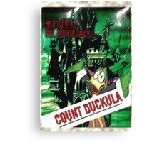 Duckula the B Movie Canvas Print