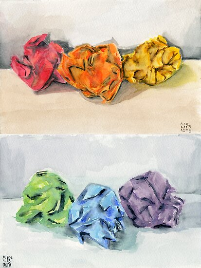 Crumpled Series Print by Amy-Elyse Neer