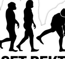 Get Rekt - Human Evolution (Black) Sticker