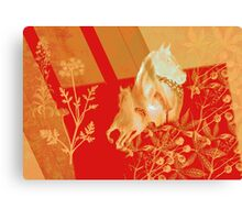 Equines. Yellow & Red. Canvas Print