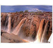 Augrabies falls, smaller streams Poster