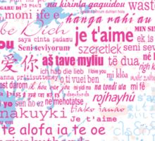 Multi-lingual Message of Love Sticker