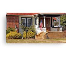Patriotic little house entrance Canvas Print