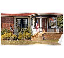 Patriotic little house entrance Poster