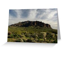 Superstition Mountain ~ Apache Trail, Arizona Greeting Card