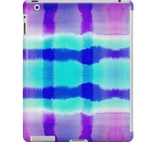 Purple and Blue Watercolor Abstract Stripe Pattern iPad Case/Skin
