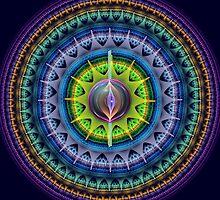 The magical eye mandala by walstraasart