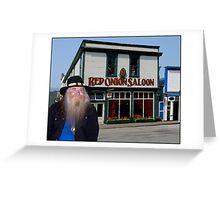 Red Onion Saloon Skagway Greeting Card