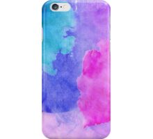 Pink, Purple, Teal, and Blue Watercolor Smudges iPhone Case/Skin