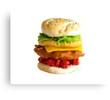 1:12th Scale Chicken Tower Burger Canvas Print