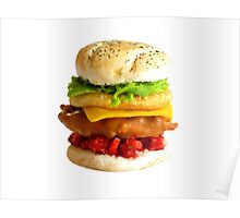 1:12th Scale Chicken Tower Burger Poster