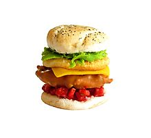 1:12th Scale Chicken Tower Burger Photographic Print