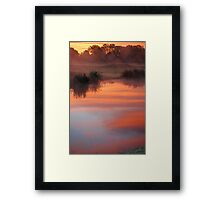 Dawn in the Mist Framed Print