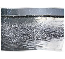 Water Droplets hitting water Poster