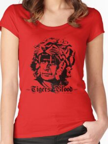 Tigers Blood Women's Fitted Scoop T-Shirt