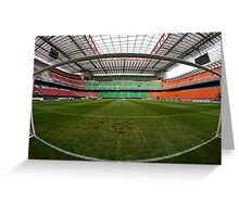 Inside the goal Greeting Card