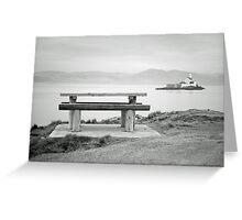 Fenit Lighthouse. Little Samphire Island. Kerry. Greeting Card