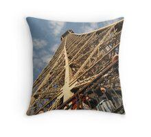 Look Up - Eiffel Tower Throw Pillow