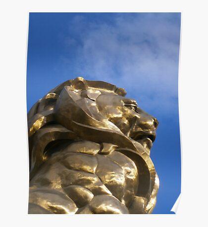 MGM Lion Las Vegas Poster