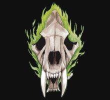 Flaming Skulls - Sabre Toothed Tiger by drakhenliche