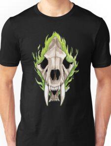 Flaming Skulls - Sabre Toothed Tiger Unisex T-Shirt
