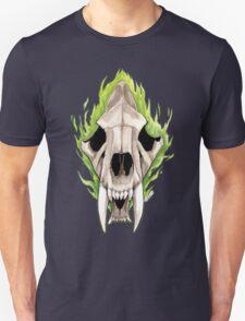Flaming Skulls - Sabre Toothed Tiger T-Shirt