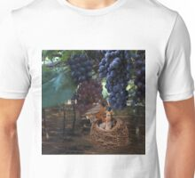 VINEYARD & ROBIN FEEDING BABIES GRAPES-PILLOWS-TOTE BAG-JOURNAL-NOTE BOOK- SCARF-ECT.. Unisex T-Shirt