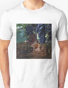 VINEYARD & ROBIN FEEDING BABIES GRAPES-PILLOWS-TOTE BAG-JOURNAL-NOTE BOOK- SCARF-ECT.. T-Shirt