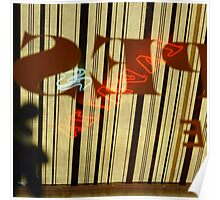 Striped Awning Poster