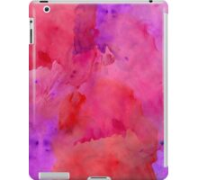 Pretty Pink, Purple, and Red Watercolor Paint  iPad Case/Skin