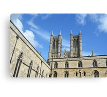 Lincoln Cathedral Walls Canvas Print