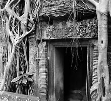 Doorway at Ta Prohm temple by Simon McArthur