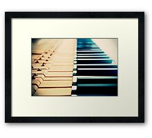 Piano Keyboard Framed Print