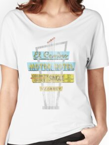Vintage Motel Sign - El Camino Women's Relaxed Fit T-Shirt