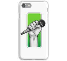 hand with microphone iPhone Case/Skin