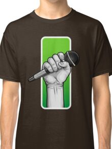 hand with microphone Classic T-Shirt
