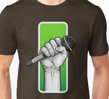 hand with microphone Unisex T-Shirt