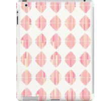 Summer Coral Pink Triangle Brush Stroke Stamps iPad Case/Skin