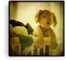 Dog Basket Canvas Print