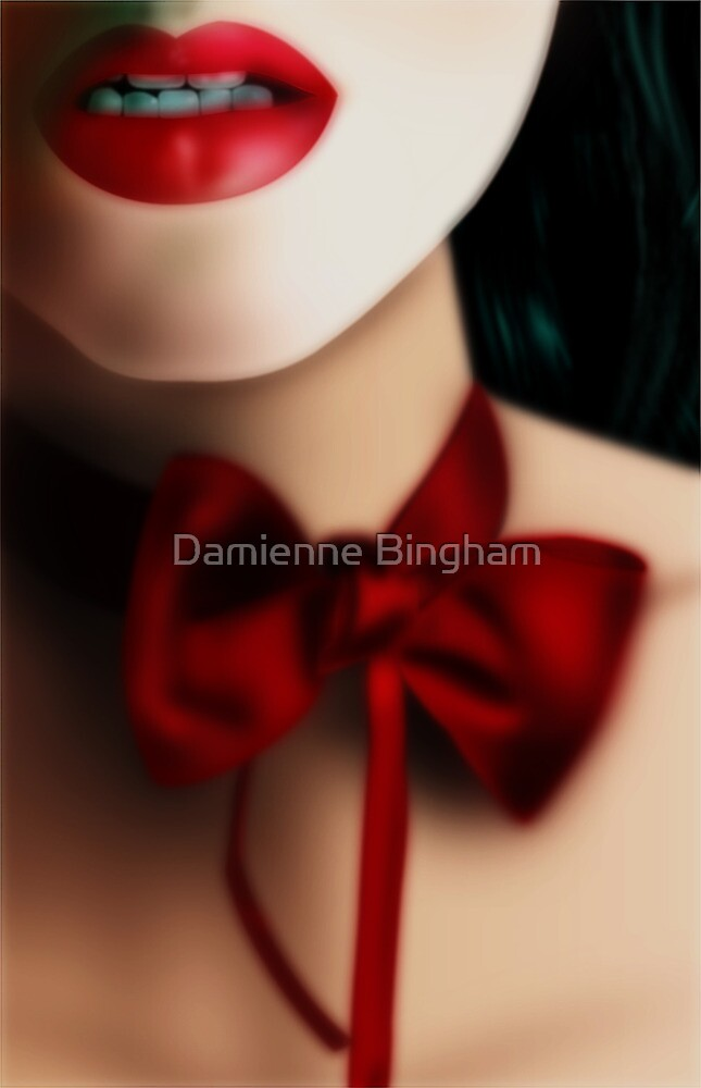 Dark Red Love-Knot by Damienne Bingham