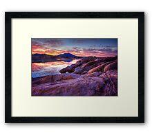 Dusk On The Rocks Framed Print
