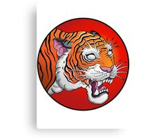 oriental tiger head Canvas Print