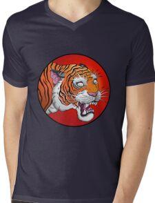 oriental tiger head Mens V-Neck T-Shirt